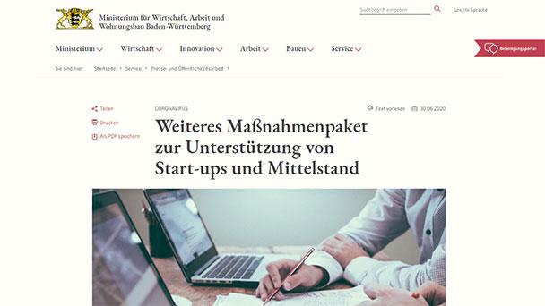 """Weitere Sofort-Hilfen für Start-Ups und mittelständische Betriebe – Kretschmann: """"Auch Beitrag zur Modernisierung und Innovation"""""""