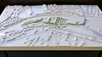 """Gernsbachs großes Bauprojekt – 3D-Modell des Bebauungsplanentwurfs """"Im Wörthgarten"""""""