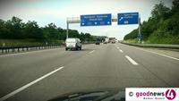 Polizeihubschrauber jagte ausgeflippten Autobahn-Raser auf der A5 - Dringender Zeugenaufruf