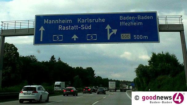 Drei Verletzte auf der Autobahn bei Sinzheim – 80.000 Euro Schaden