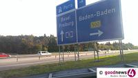 Kilometerlange Staus bei Baden-Baden und 250.000 Euro Schaden – Sattelzug auf Standstreifen kollidiert