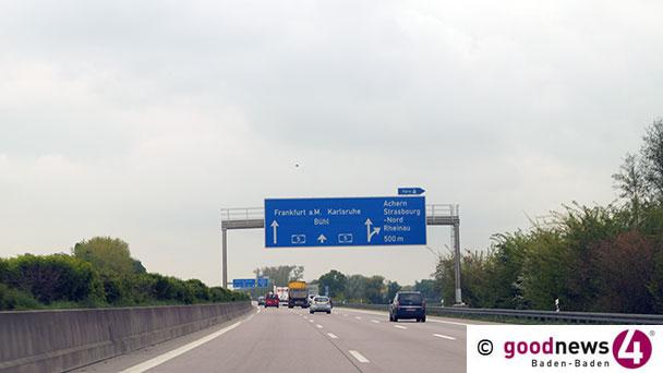 Dacia gegen Lkw – Unfall auf der A5