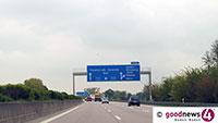 Steinewerfer auf Brücke der A5 – Auto von Stein getroffen