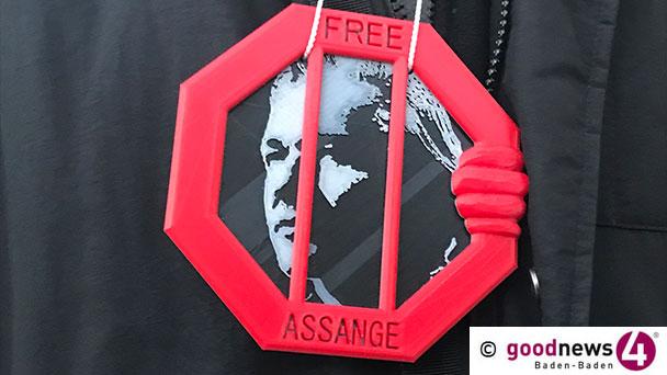 61. Mahnwache in Baden-Baden für Julian Assange – Am Freitag am Blumebrunnen