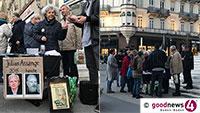 Kundgebung für Julian Assange in Baden-Baden – 20 Demonstranten auf dem Leopoldsplatz