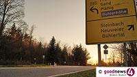 Dreharbeiten dauern länger – Verbindungsstraße Richtung Bühlertal gesperrt