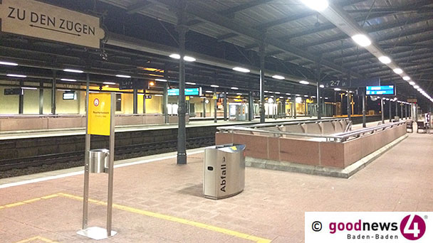 Kontrollen an Bahnhöfen Baden-Baden und Offenburg – Seit November 1.900 Verstöße gegen Maskenpflicht
