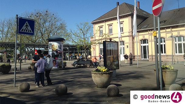 Schlägerei vor Baden-Badener Bahnhof – 2,5 Promille änderten gemütliches Beisammensein