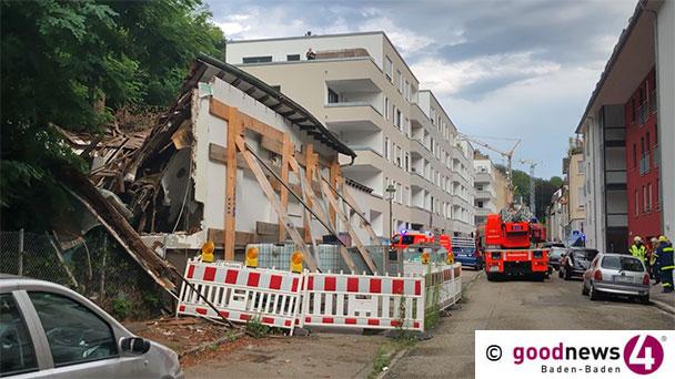 Eingestürztes Haus in der Balzenbergstraße – Rückbauarbeiten beginnen am Mittwoch
