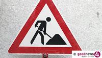 Zwei Wochen Verkehrsbehinderungen – Bauarbeiten in der Sandweierer Straße