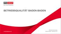 """Untersuchung der """"Betriebsqualität"""" der Baden-Baden Linie liegt vor - """"Angebotserweiterung im Fahrplan zur Anbindung Multiplexkinos und Wohngebietes Cité Bretagne"""""""
