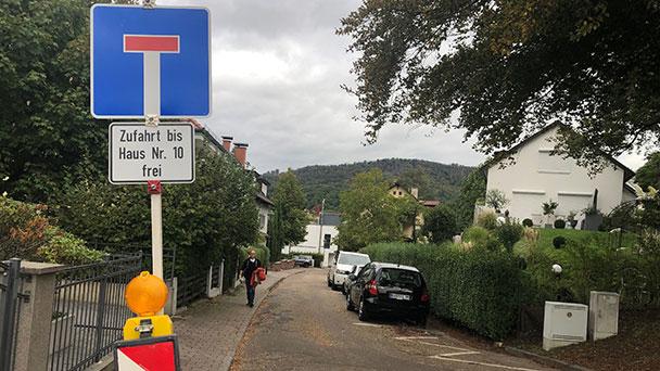 Bergengruenstraße gesperrt – Fußgänger können passieren