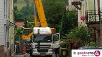 Bergengruenstraße für den gesamten Verkehr gesperrt