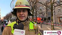 """Feuerwehr-Großeinsatz in Baden-Badener Sophienstraße - Einsatzleiter Zacharias: """"Wir haben einen Brand in zwei Stockwerken, drittes und viertes Obergeschoss sind vom Brand betroffen"""""""