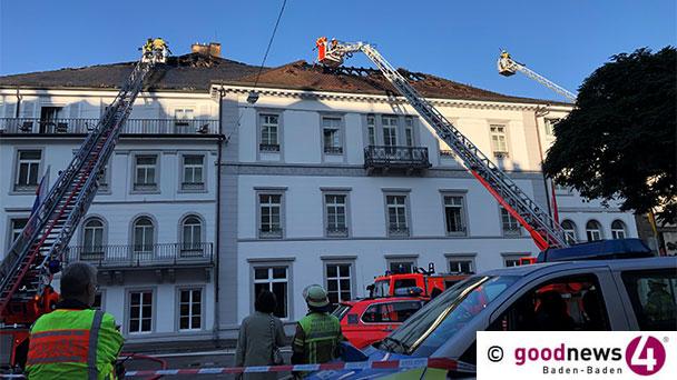 Nach Großbrand im Badischen Hof – Straße bleibt halbseitig gesperrt