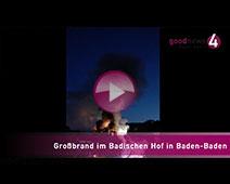 Großbrand im Baden-Badener Hotel Badischer Hof