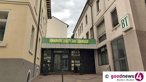 Badisches Tagblatt gibt Eigenständigkeit auf – Verkauf an Karlsruher Zeitung Badische Neueste Nachrichten