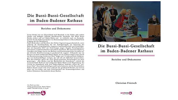 """Buch zur Baden-Badener Leo-Affäre – Neuerscheinung mit 344 Seiten – """"Die Bussi-Bussi-Gesellschaft im Baden-Badener Rathaus"""""""