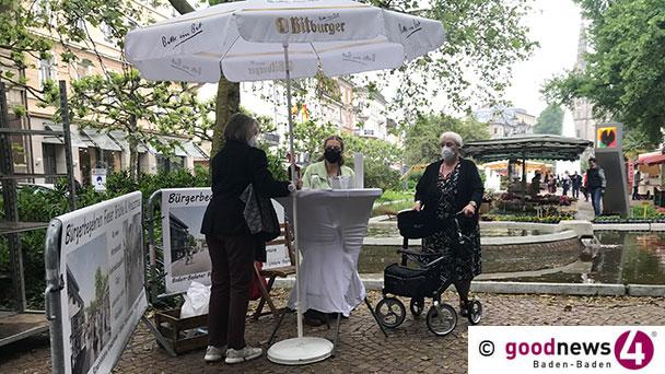 """Endspurt für Bürgerbegehren """"Fieser-Brücke"""" in Baden-Baden – Heute ab 9 Uhr am Augustaplatz – 1.000 Stimmen fehlen noch"""