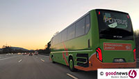 Schwerer Verkehrsunfall mit Flixbus auf der Autobahn bei Karlsruhe - Mehrere Verletzte - 250.000 Schaden
