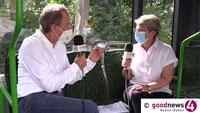 Gabriele Katzmarek über ihre Begegnungen mit Olaf Scholz – Und was sie als OB in Baden-Baden anders machen würde – goodnews4-Serie in Baden-Badener Linienbus