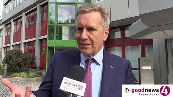 """HEUTE GENAU VOR EINEM JAHR: Christian Wulff in Baden-Baden – Mahnung an die Bürger im goodnews4-Interview – """"Das Volk muss herrschen wollen"""""""