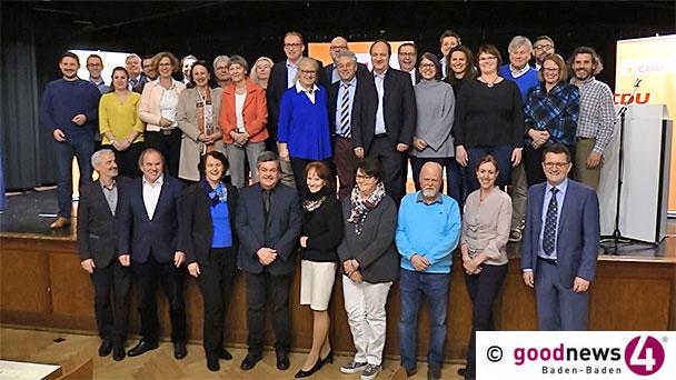 Kleiner Aufstand bei CDU-Nominierung für Kommunalwahl in Baden-Baden – Armin Schöpflin nur auf Platz 14 – Cornelia von Loga und Anemone Bippes stürmen nach vorne