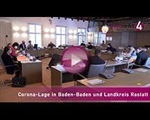 Corona-Lage in Baden-Baden | OB Margret Mergen, Maximilian Lipp