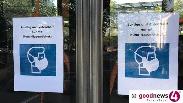 Masken-Kontrollen in Baden-Badener Linienbussen – Zwei Bußgeldverfahren eingeleitet
