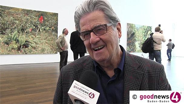 """Neue Ausstellung im Museum Frieder Burda - Franz Gertsch im goodnews4-VIDEO-Interview: """"Sehen Sie eine Fotoausstellung, wo der Besucher eine halbe Stunde meditierend vor einer Fotografie steht?"""""""