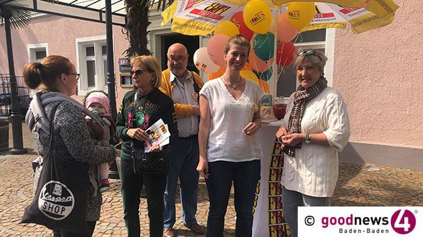 FBB-Wahlkampf heute am Baden-Badener Augustaplatz und in Steinbach