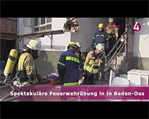 Spektakuläre Feuerwehrübung in Baden-Oos | Andreas Wilhelm, Ralph Schlosser