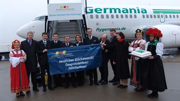 Erstflug Baden-Baden-Moskau vom FKB – Germania fliegt Montag und Donnerstag