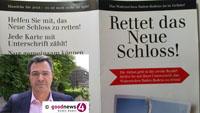 """Rechtliche Schritte gegen Schloss-Projekt - Martin Ernst will RP-Geldwäsche-Referat einschalten: """"Ich mache eine Verdachtsanzeige"""" - Unterschriftskarten """"Rettet das Neue Schloss"""" in allen Baden-Badener Briefkästen"""