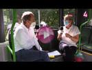goodnews4-Gespräch im Bus   Christian Frietsch und Gabriele Katzmarek
