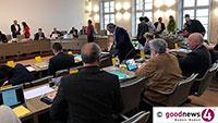 Öffentliche Sitzung des Baden-Badener Gemeinderats – Verleihung der Silbernen Ehrenmedaille an Stadträte Hans-Peter Ehinger, Rainer Lauerhaß Armin Schöpflin, Ingrid Kath