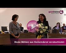 Beate Böhlen aus Gemeinderat verabschiedet | goodnews4-VIDEO-Reportage