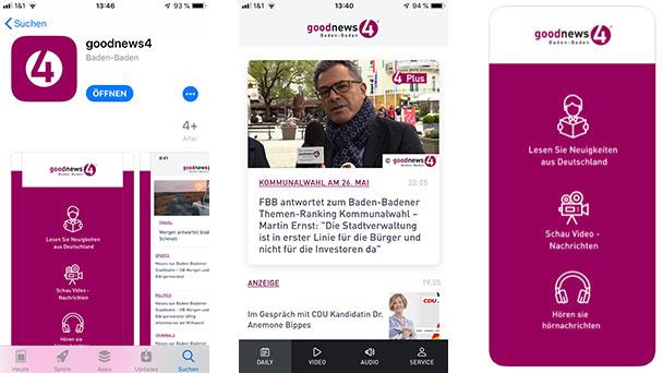 Ergebnisse der Baden-Badener Kommunalwahl am Sonntag als Push-Nachricht – Direkt aufs Handy – goodnews4App ab sofort kostenlos herunterladen