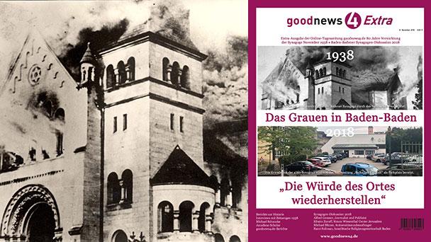 """""""Die Würde des Ortes wiederherstellen"""" - 128-seitige Sonderausgabe Pogrom vor 80 Jahren in Baden-Baden"""