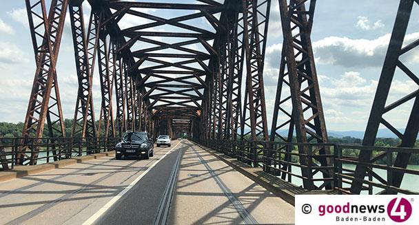 Rheinbrücke Wintersdorf morgen gesperrt