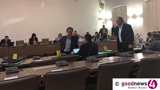 Geld für Baden-Badener Fürstenberg-Denkmal – Absage für FDP-Fraktionschef Pilarskis Israel-Vorschlag – Lob von CDU-Fraktionschef Gernsbeck für Philharmonie
