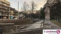Achtung frisch gestrichen! – Neuer Anstrich für historisches Geländer bei Hindenburgplatz