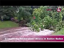 Glimpfliche Hochwasser-Bilanz in Baden-Baden