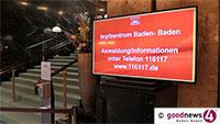 """Ab sofort Impftermine für Baden-Badener Kreisimpfzentrum – """"Impfstoff kommt heute oder morgen"""" – Anmeldung unter Telefonnummer 116 117"""