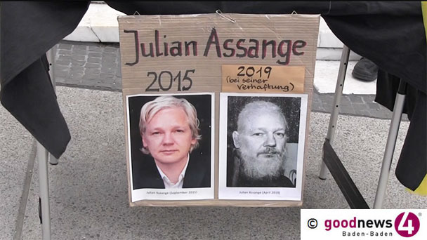 """56. Mahnwache für Julian Assange in Baden-Baden – """"Zu diesem Skandal schweigt die deutsche Bundesregierung beharrlich"""""""