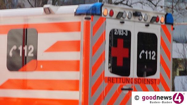 Schwerer Unfall in Bühl – Vier Verletzte – Auto überschlug sich