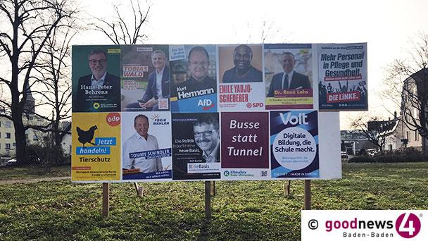 Informationen zum Wahlablauf am 14. März – Bis jetzt 6.500 Briefwähler in Bühl registriert – Alle Kandidaten im goodnews4-VIDEO