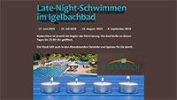Schwimmen in der lauen Sommernacht – Romantisches Late-Night-Schwimmen in Gernsbach