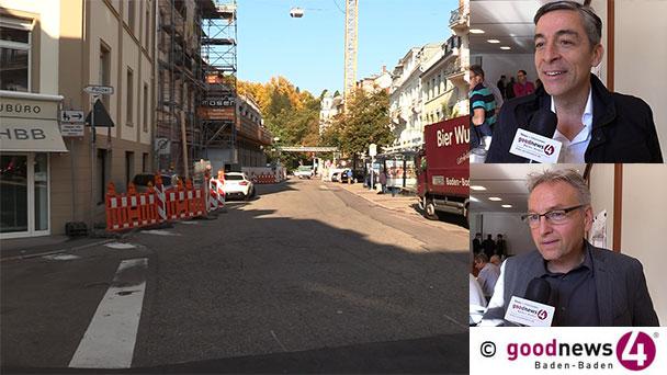 """Herz der Baden-Badener Innenstadt wird größer - Bürgermeister Alexander Uhlig: """"Verlängerung bis Fußgängerüberweg an der Sternstraße"""" - Peter Kruse zur Eröffnung Europäischer Hof: """"Mitte 2020"""""""