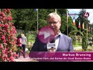 Markus Brunsing erzählt die Geschichte des Baden-Badener Rosengartens